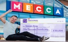 Heart felt moment for Mecca Oldham Jackpot Winner